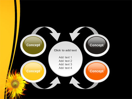 Flaming Sunflower PowerPoint Template Slide 6