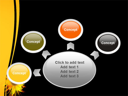 Flaming Sunflower PowerPoint Template Slide 7