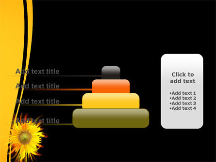 Flaming Sunflower PowerPoint Template Slide 8