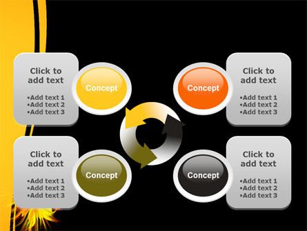 Flaming Sunflower PowerPoint Template Slide 9