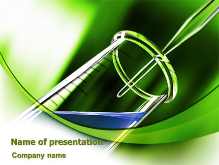 Technology and Science: Test Tube PowerPoint Template #07950