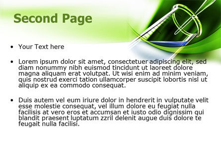 Test Tube PowerPoint Template, Slide 2, 07950, Technology and Science — PoweredTemplate.com