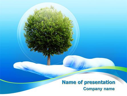 Tree Protection PowerPoint Template, 07951, Nature & Environment — PoweredTemplate.com