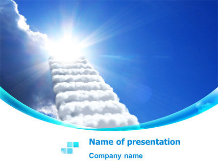 Religious/Spiritual: Heaven Ladder PowerPoint Template #07954