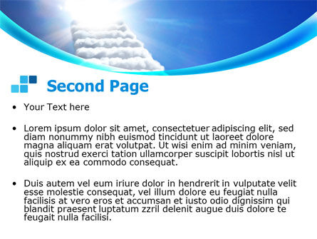 Heaven Ladder PowerPoint Template Slide 2