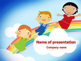 Education & Training: Over the Rainbow PowerPoint Template #07956