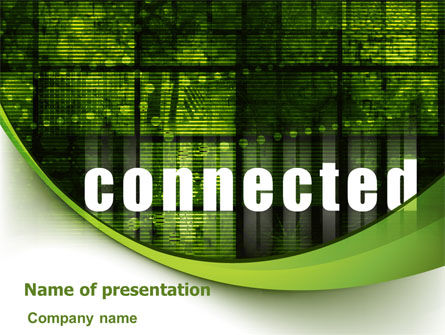 Telecommunication: Connected World PowerPoint Template #07958