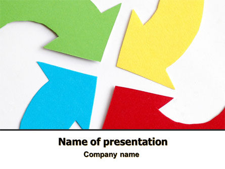 Consulting: Center Pointed Arrows PowerPoint Template #07960