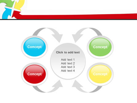 Center Pointed Arrows PowerPoint Template Slide 6