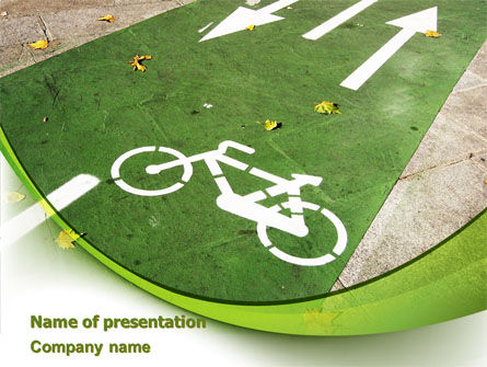 Bicycle Zone PowerPoint Template, 07961, Careers/Industry — PoweredTemplate.com