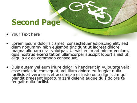 Bicycle Zone PowerPoint Template Slide 2