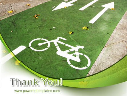 Bicycle Zone PowerPoint Template Slide 20