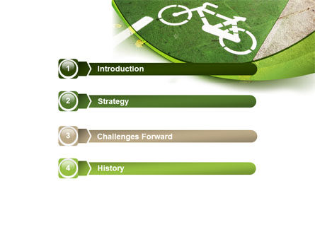 Bicycle Zone PowerPoint Template Slide 3