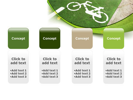 Bicycle Zone PowerPoint Template Slide 5