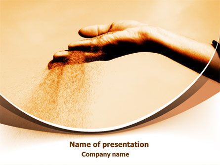 Religious/Spiritual: Sand Through Fingers PowerPoint Template #07966
