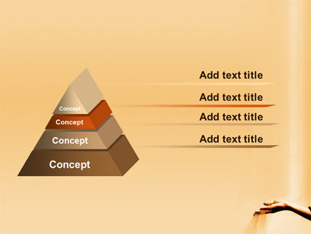 Sand Through Fingers PowerPoint Template Slide 4