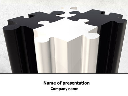 Assembled Puzzle PowerPoint Template