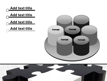 Assembled Puzzle PowerPoint Template Slide 12