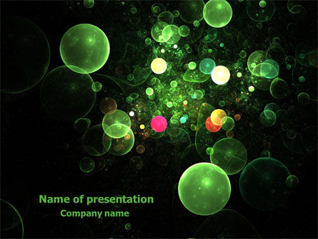 Green Bubbles Abstract PowerPoint Template, 07969, Abstract/Textures — PoweredTemplate.com