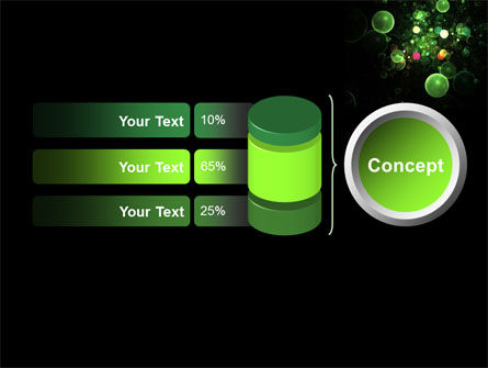 Green Bubbles Abstract PowerPoint Template Slide 11