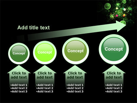Green Bubbles Abstract PowerPoint Template Slide 13