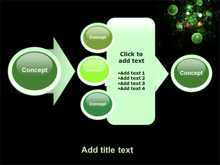 Green Bubbles Abstract PowerPoint Template Slide 17