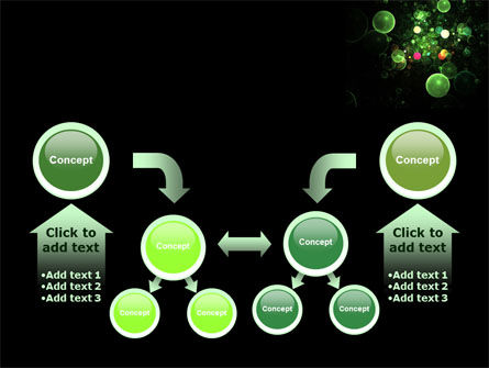 Green Bubbles Abstract PowerPoint Template Slide 19