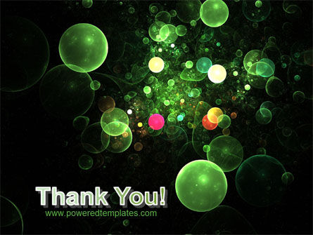 Green Bubbles Abstract PowerPoint Template Slide 20