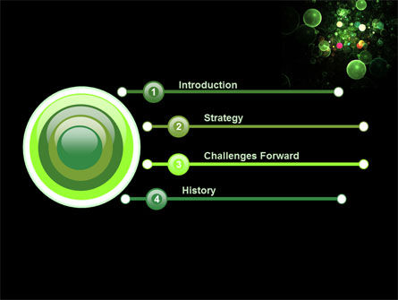 Green Bubbles Abstract PowerPoint Template Slide 3