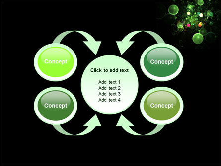Green Bubbles Abstract PowerPoint Template Slide 6