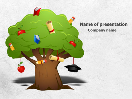 Education Tree PowerPoint Template, 07970, Education & Training — PoweredTemplate.com