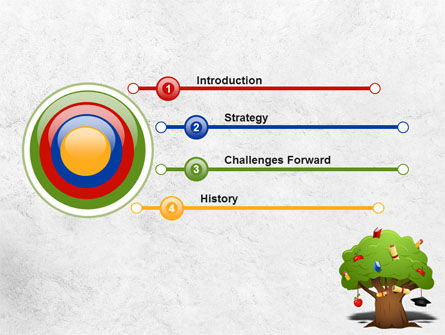 Education Tree PowerPoint Template, Slide 3, 07970, Education & Training — PoweredTemplate.com