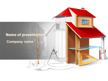 Construction: House Project PowerPoint Template #07971