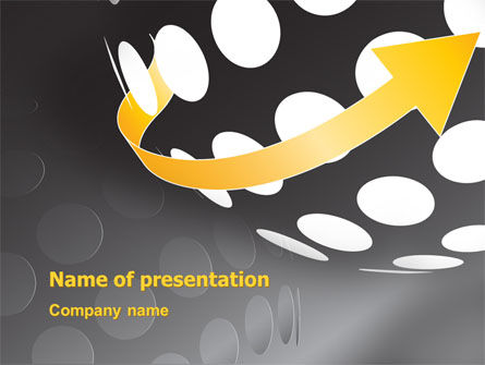 Business: Arrow Around Sphere PowerPoint Template #07972