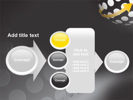 Arrow Around Sphere PowerPoint Template Slide 17