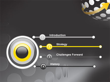 Arrow Around Sphere PowerPoint Template Slide 3