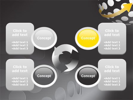 Arrow Around Sphere PowerPoint Template Slide 9