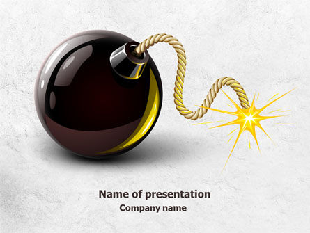 Consulting: Bomb With Burning Wick Free PowerPoint Template #07973