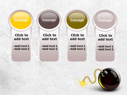 Bomb With Burning Wick Free PowerPoint Template Slide 5