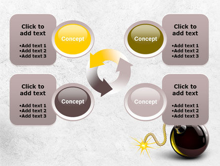 Bomb With Burning Wick Free PowerPoint Template Slide 9