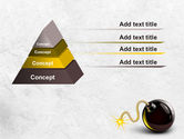 Bomb With Burning Wick Free PowerPoint Template#12