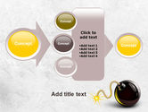 Bomb With Burning Wick Free PowerPoint Template#17