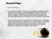 Bomb With Burning Wick Free PowerPoint Template#2