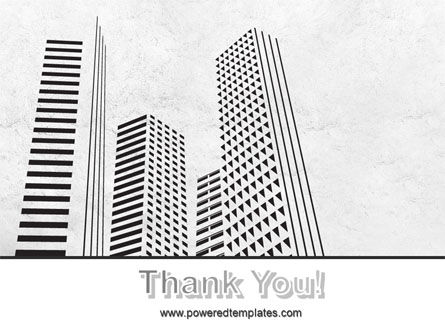 Gray Skyscrapers Free PowerPoint Template Slide 20