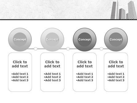 Gray Skyscrapers Free PowerPoint Template Slide 5
