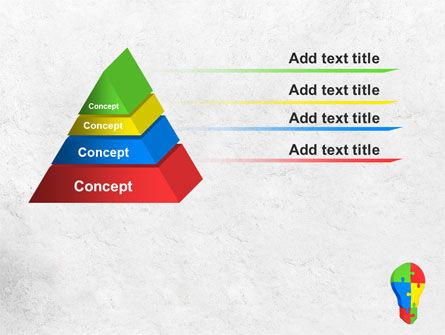 Jigsaw Bulb PowerPoint Template Slide 12