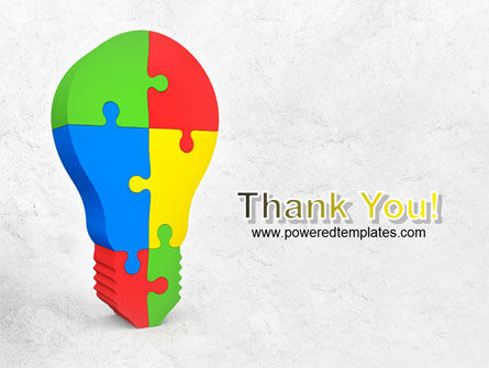 Jigsaw Bulb PowerPoint Template Slide 20