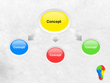 Jigsaw Bulb PowerPoint Template, Slide 4, 07975, Consulting — PoweredTemplate.com