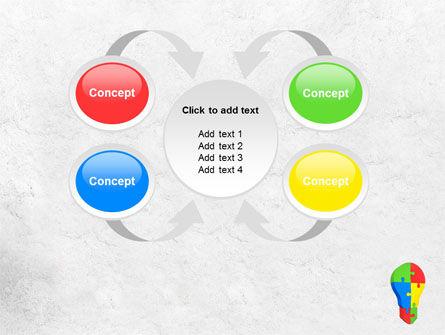 Jigsaw Bulb PowerPoint Template Slide 6