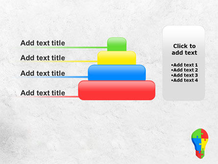 Jigsaw Bulb PowerPoint Template Slide 8